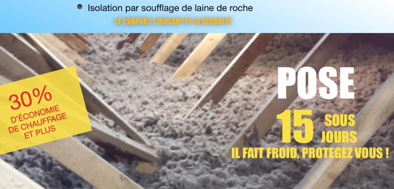 Isolation par soufflage de laine de roche